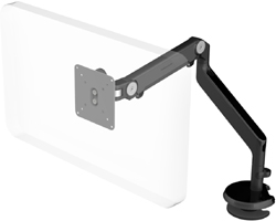 Humanscale M2 Arm with Blot Through Mount with Base, Fixed Angled Link/Dynamic Link and Black
