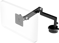 Humanscale M2 Arm with Blot Through Mount with Base, Fixed Straight Link/Dynamic Link and Black