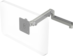 Humanscale M2 Arm with No Mount, Fixed Straight Link/Dynamic Link and Silver