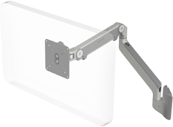 Humanscale M2 Arm with Universal Slatwall Mount, Fixed Angled Link/Dynamic Link and Silver