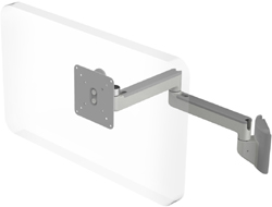 Humanscale M2 Arm with Universal Slatwall Mount, Fixed Straight Link/Fixed Straight Link and Silver