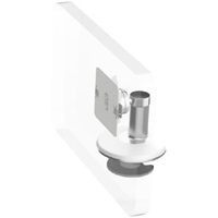 Humanscale M8 Arm with Bolt Through Mount with Base, Ball Joint only and White