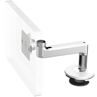 Humanscale M8 Arm with Bolt Through Mount with Base, Straight Link only and White