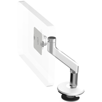 Humanscale M8 Arm with Bolt Through Mount with Base, Fixed Angle Link only and White