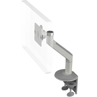 Humanscale M8 Arm with Two Piece Clamp Mount with Base, Fixed Angle Link only and Silver