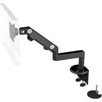 Humanscale M8 Arm with Dual Mount Clamp and Bolt Through, Fixed Straight Link/Dynamic Link and Black