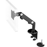 Humanscale M8 Arm with Dual Mount Clamp and Bolt Through, Dynamic Link only and Black