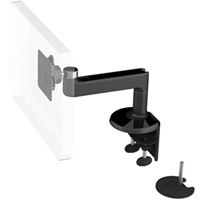 Humanscale M8 Arm with Dual Mount Clamp and Bolt Through, Straight Link only and Black