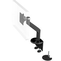 Humanscale M8 Arm with Dual Mount Clamp and Bolt Through, Fixed Angle Link only and Black