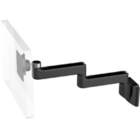 Humanscale M8 Arm with Direct Hardwall Mount, Fixed Straight Link/Fixed Straight Link and Black