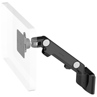 Humanscale M8 Arm with Direct Hardwall Mount, Dynamic Link only and Black