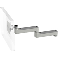 Humanscale M8 Arm with No Mount, Fixed Straight Link/Fixed Straight Link and Silver