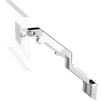 Humanscale M8 Arm with Universal Slatwall Mount, Fixed Angled Link/Dynamic Link and White