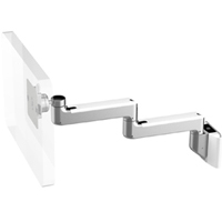 Humanscale M8 Arm with Universal Slatwall Mount, Fixed Straight Link/Fixed Straight Link and White