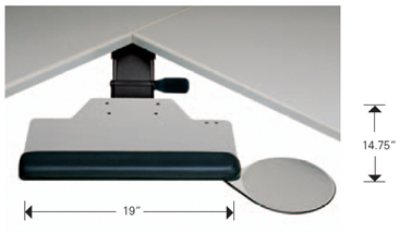 Humanscale 600 Extended Board Keyboard Tray Platform System