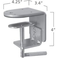 ISE MA2000-201B Standard Clamp or MA2000-901AA Large Clamp Desk Mount Silver