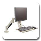 Innovative 7509 LCD Data Entry Arm with Flip-Up Keyboard - 27 inch of Horizontal