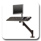 Innovative 9139 Heavy-duty LCD Data Entry Arm with 31 inch Horizontal Reach