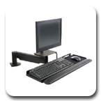 Innovative 9140 Flexible LCD Data Entry Arm up to 17.5 inch Horizontal Reach