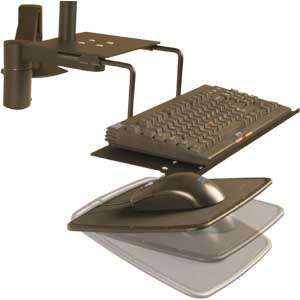 Innovative 8057 Left or Right-Handed Mouse Tray with Tilt Option