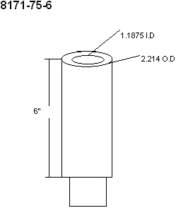 Technical Diagram for Innovative 8171-75-6 or 8171-75-2 Extender Tube