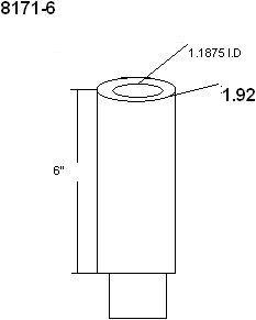 Technical Drawing for Innovative 8171-6 Extender Tube
