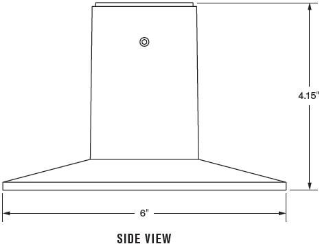 Technical Drawing for Innovative 8312 Through Desk Mount