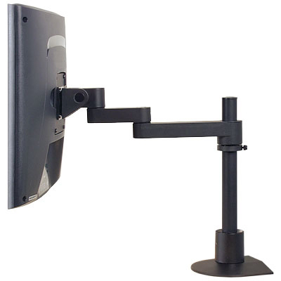 Innovative 9112-S-12-FM Articulating LCD Pole Mount Arm extends up to 14 inch