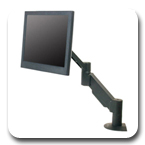 "Innovative 3545 Short Reach (17.5"") LCD Monitor Arm with Fixed 45° Forearm"