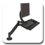 "Innovative 7520-NM Sit Stand Data Entry LCD Arm with Keyboard Tray (27"" x 11"") No Mount"