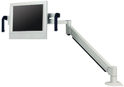 "Innovative 7616-14 Long reach (42"") Healthcare Monitor Arm with Handles"