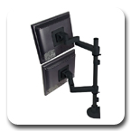"Innovative 9112-D-30 Articulating Dual LCD Pole Mount Arm with 30"" Standard Pole and 14"" Horizontal Reach"