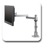 "Innovative 9130-S-28 Long Reach Flat Panel LCD Pole Mount Arm with 28"" Pole and 16"" Horizontal Reach"