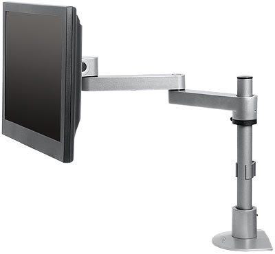 "Innovative 9130-S-30 Long Reach Flat Panel LCD Pole Mount Arm with 30"" Standard Pole and 16"" Horizontal Reach"