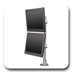 Innovative 9136-D-28 Articulating Dual 28 inch Flat Panel LCD Pole Mount