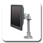 Innovative 9136-S-12 Articulating 12 inch Flat Panel LCD Pole Mount