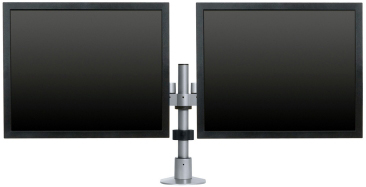 "Innovative 9163-S-12 Dual Large Monitor Side By Side LCD Arm with 12"" Pole"