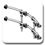 Innovative 9169-D-3 ArcView Two-Tier Triple Monitor Beams and Mounting Poles