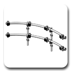 Innovative 9169-D-4 ArcView Two-Tier Quad Monitor Beams and Mounting Poles