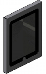 Innovative 8424-NHB Secure iPad Holder with No Home Button Access