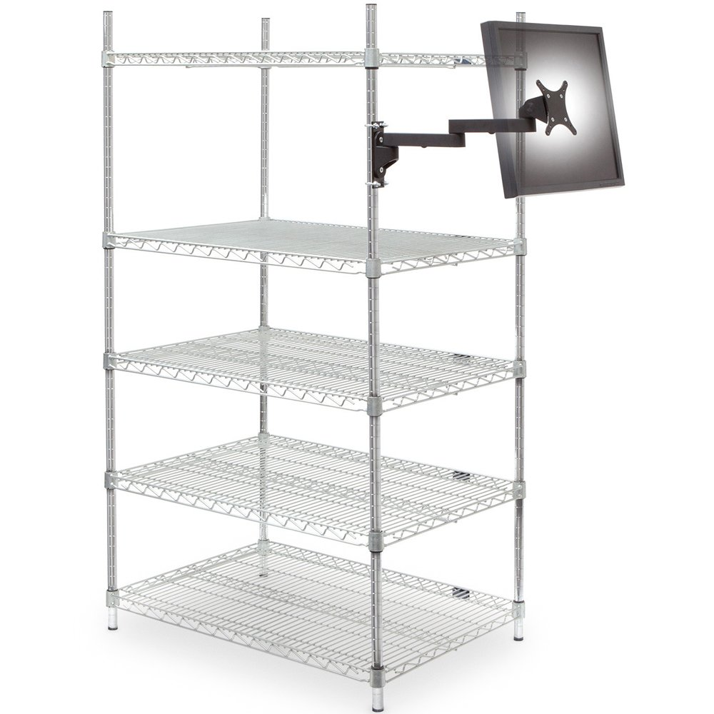 9110-8460 Wire Shelving Monitor Mount
