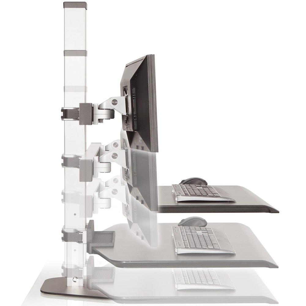 Innovative Winston Dual Monitor Sit Stand Workstation