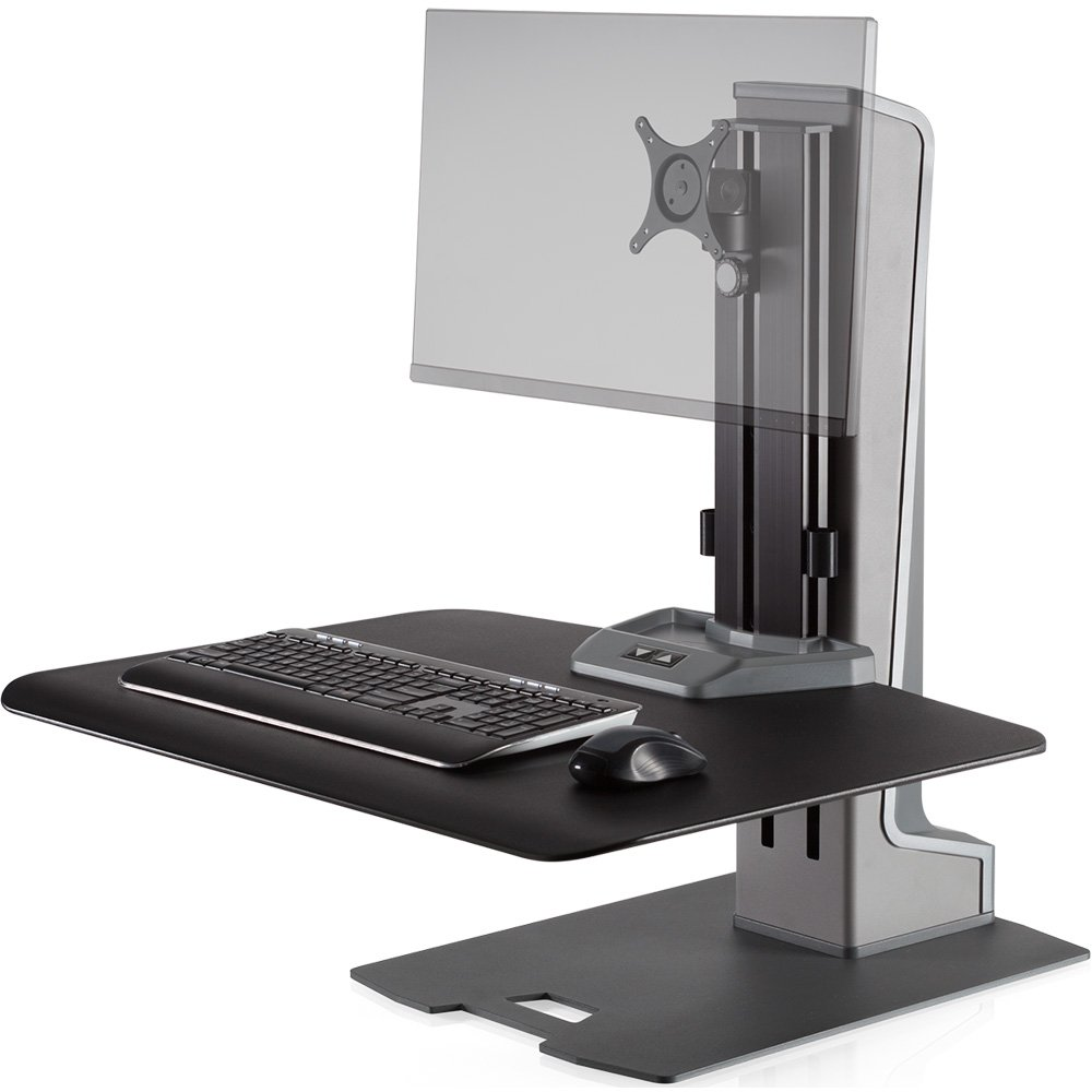 Innovative Winston E Single Monitor Sit Stand Workstation