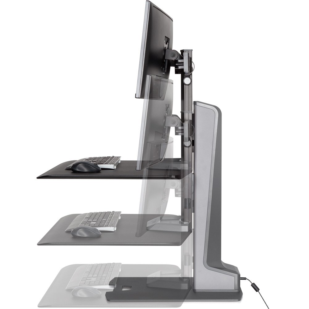 Innovative Winston E Dual Monitor Sit Stand Workstation