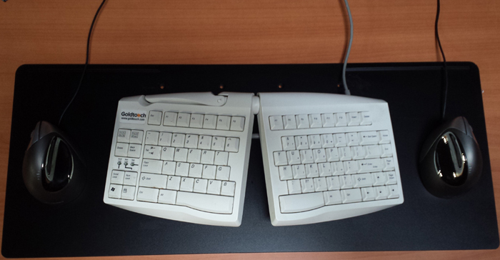 Ergotron Deep Keyboard Tray with Goldtouch Keyboard, ED-97-0099
