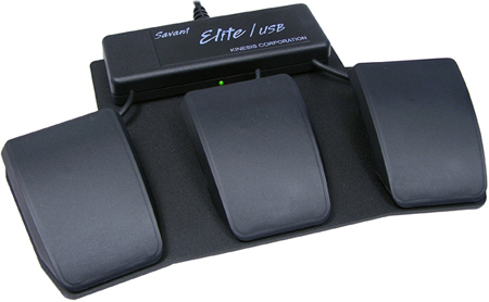 Kinesis FS30AJ Savant Elite Triple Action Foot Switch with Input Jack