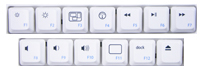 Top Row Driverless Hot Keys of FreeStyle Solo Mac Keyboard