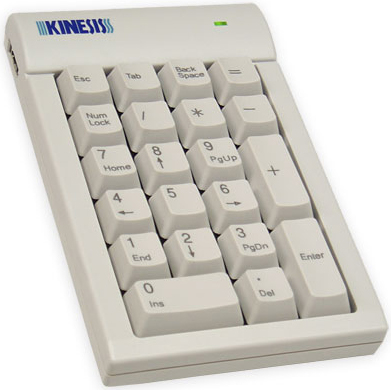 Kinesis AC210USB-bge Low Force Numeric Keypad for PC Beige