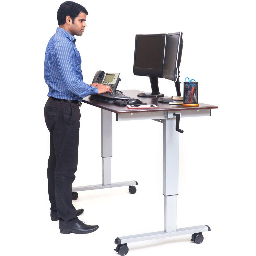 luxor standup cf60 dw 60 crank adjustable stand up desk. Black Bedroom Furniture Sets. Home Design Ideas