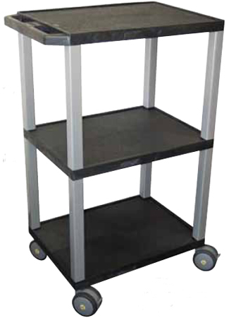 Luxor MRIWT42 Non-Magnetic Cart with MRI Non-Magnetic Casters